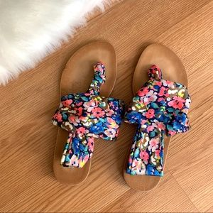 Dirty Laundry Floral Yoga Sling Summer Sandals